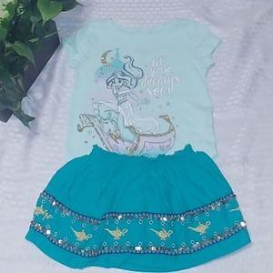 Disney Aladdin Jasmine Toddler Girls Outfit